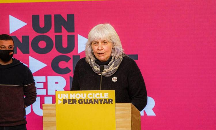 """Dolors Sabater: """"No podem imaginar un govern que no passi per l'eix independentista"""""""