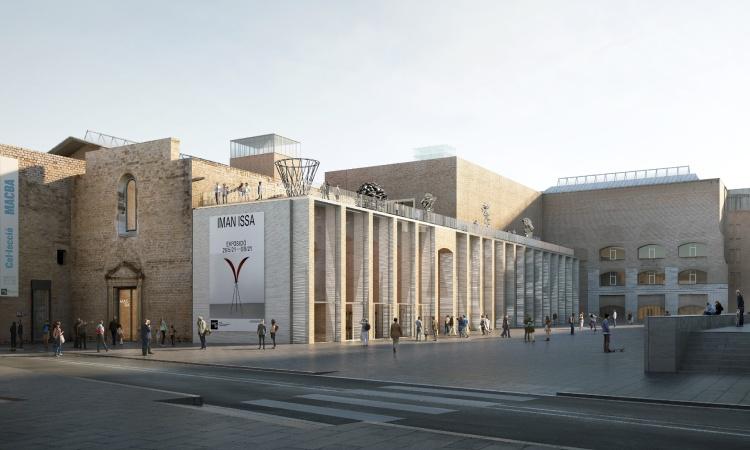 L'ampliació del Macba es farà amb una gran galeria a la plaça dels Àngels