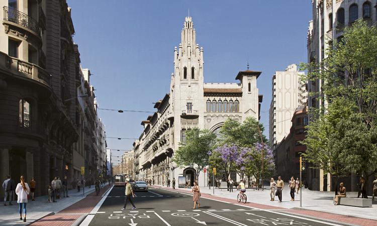 Més espai per a vianants i bicis a la futura Via Laietana