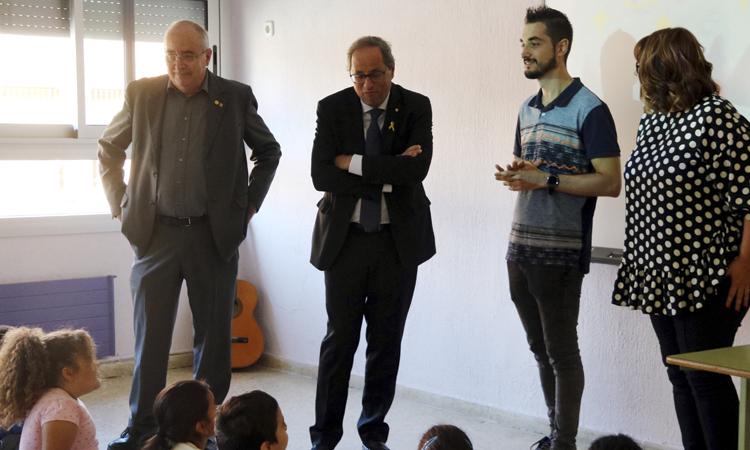 Arrenca el curs escolar amb la visita del president Torra