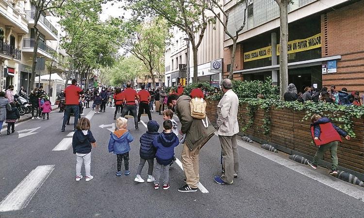 La revolta escolar de l'Eixample arriba a 11 ciutats de l'Estat