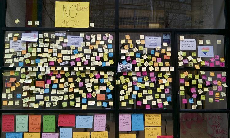 El Centre LGTBI conservarà els missatges solidaris contra l'atac