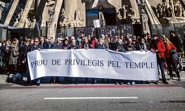 Acusen el patronat de la Sagrada Família de mentir reiteradament