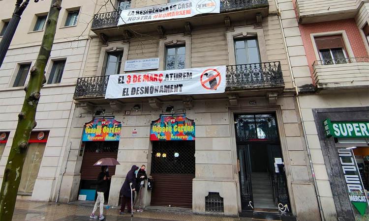 Amenaça de desnonament per una residència d'avis del barri