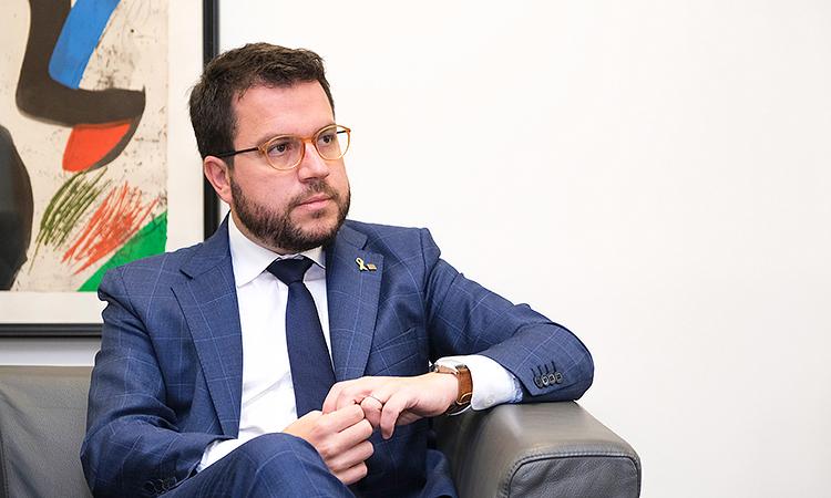 """Aragonès: """"Amb la sentència, la democràcia a l'Estat espanyol ha mort"""""""