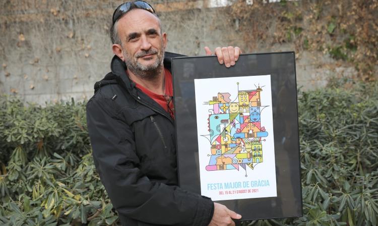 El cartell de la Festa Major de Gràcia, un cant a l'optimisme