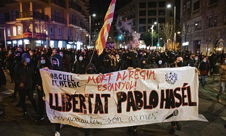 Gràcia, un dels epicentres de les protestes pel cas Hasél