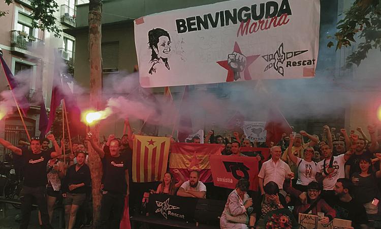 L'expresa d'ETA Marina Bernardó, rebuda a Gràcia