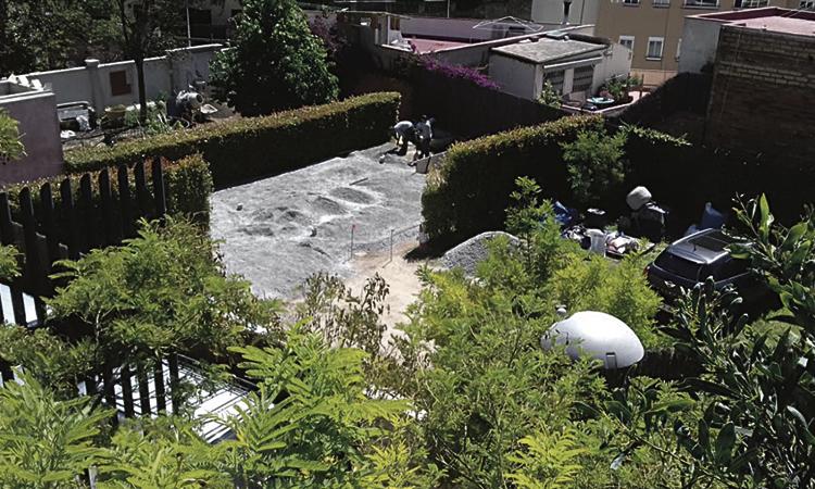 Denuncien obres il·legals en un passatge de Vallcarca