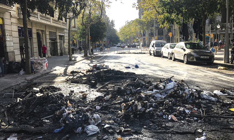 El sector del comerç condemna els aldarulls de les protestes