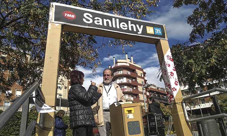 Veïns de Can Baró pressionen per l'estació de l'L9 de Sanllehy