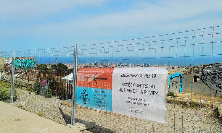 Tornen a restringir l'accés al Turó de la Rovira
