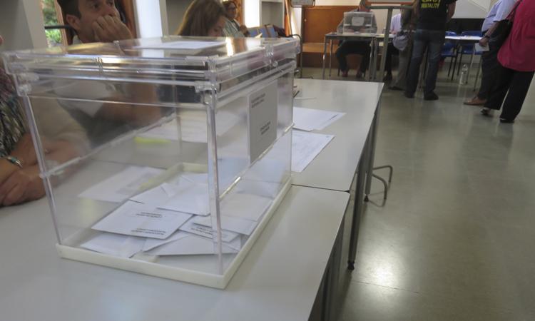 La participació cau gairebé cinc punts a Horta-Guinardó