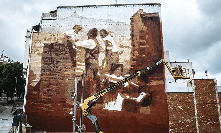 La Teixonera ja té el nou mural que homenatja la seva història