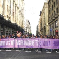 Portes violetes als locals de CCOO