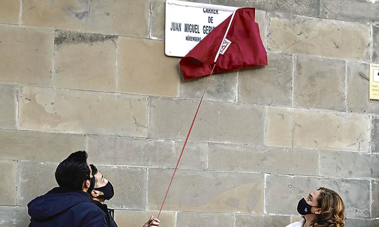 El policia Juan Miguel Gervilla ja té un carrer a les Corts