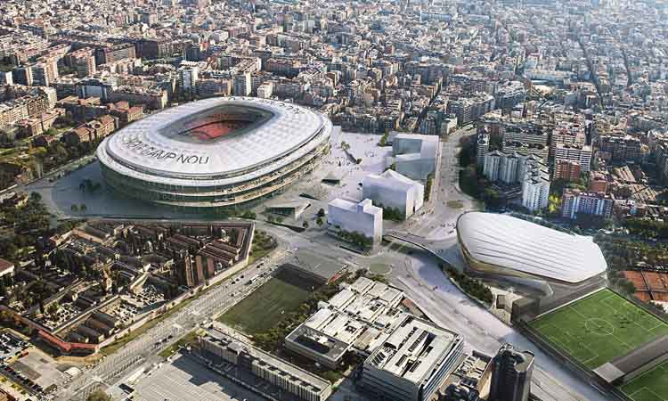 En marxa les obres per reformar l'entorn del Camp Nou