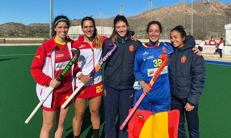 Cinc jugadores del Polo, amb la selecció espanyola
