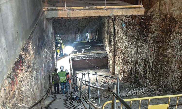 Nova fase de les obres de l'estació d'Ernest Lluch de l'L5