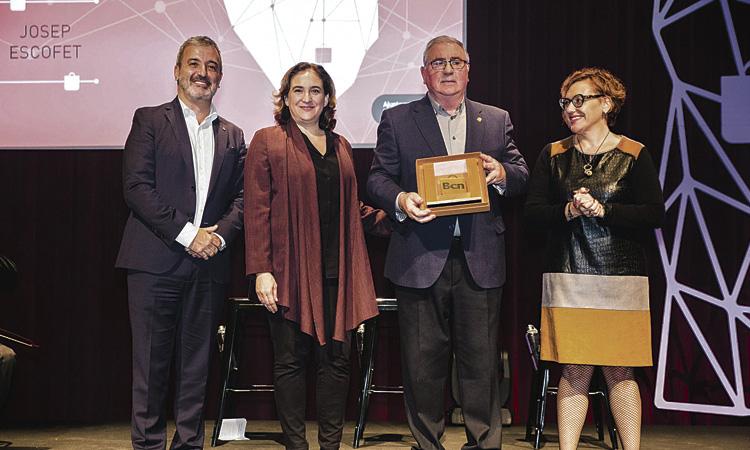 Premi Comerç per a Josep Escofet, de l'Eix Sants-Les Corts