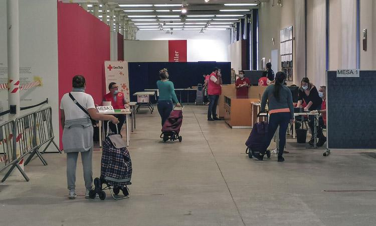 Creu Roja dobla el nombre de persones ateses en un any