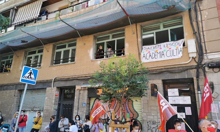 Pressió a Educació per evitar el tancament de l'Acadèmia Cultura de l'Hospitalet