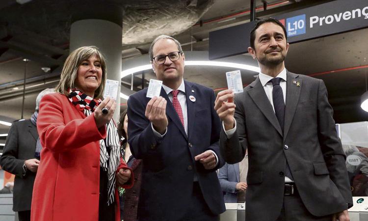 Obre la nova parada de metro de Provençana de la línia L10