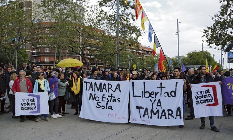 Protesta per l'any sense llibertat de Tamara Carrasco