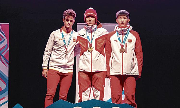 Nil Llop es penja una plata en els Jocs de la Joventut