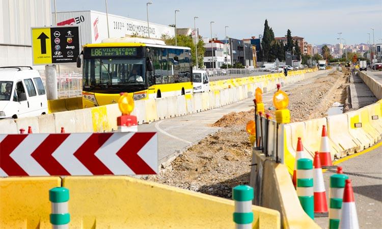 Arrenquen les obres al tram central de la C-245 a Castelldefels