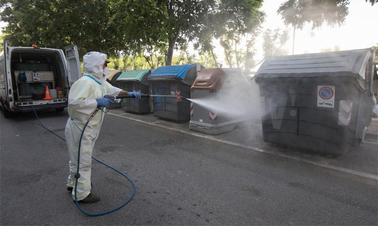 Viladecans reforça el servei de desinfecció