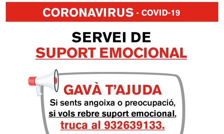 Gavà posa en marxa un servei municipal de suport emocional