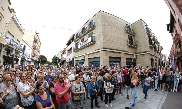 Una manifestació condemna la mort de Susana Cortés