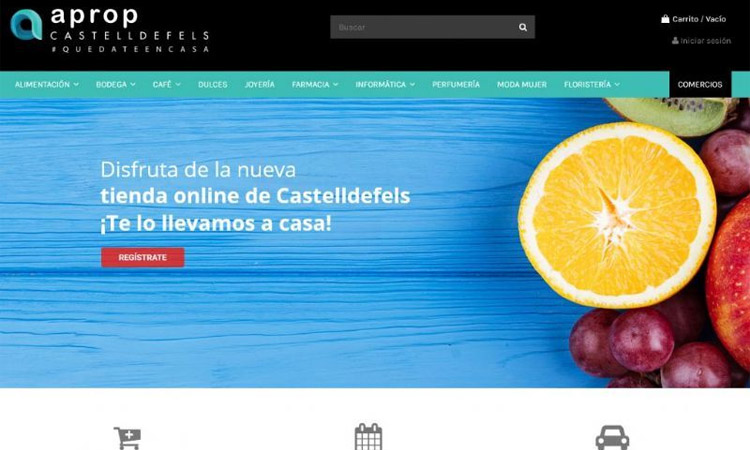 Vint botigues ja venen a la plataforma de comerç en línia de Castelldefels
