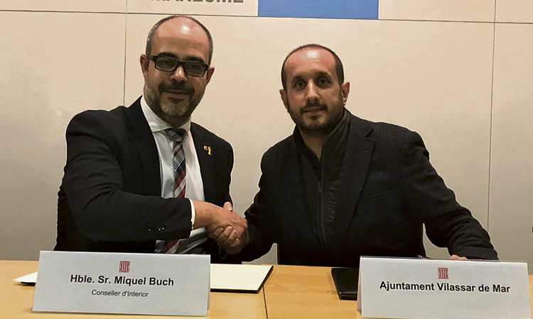 Interior i Vilassar de Mar signen un conveni sobre seguretat viària