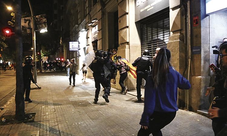 Un veí del Masnou podria ser deportat per participar en una manifestació