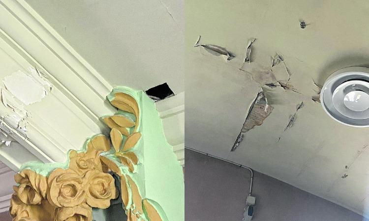 Desperfectes sala Albéniz Tiana