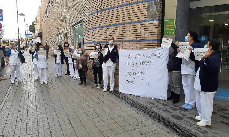 Vaga i protestes del servei de neteja a Can Ruti i a l'Hospital de Badalona