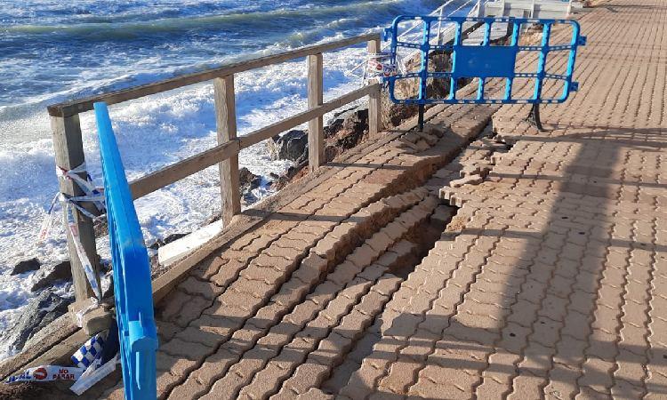 Les obres del passeig marítim de Montgat podrien allargar-se fins a l'estiu