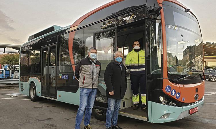 Tusgsal prova un nou bus elèctric