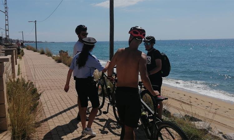 En marxa les obres d'adequació de les platges tancades de Montgat