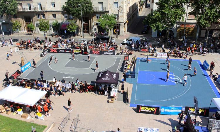La Plana, escenari de l'inici del circuit de bàsquet 3x3
