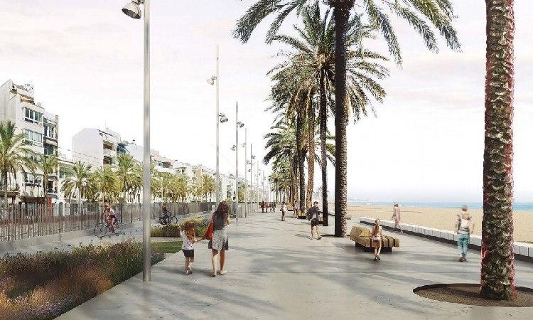 Quatre milions per un nou passeig marítim a Badalona el 2023