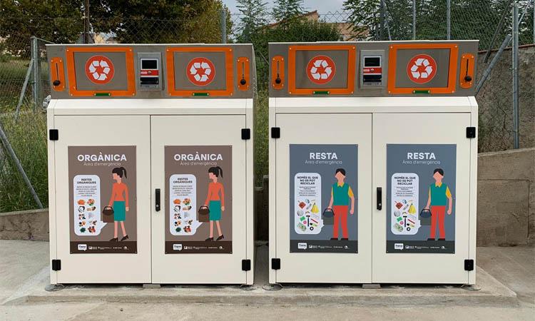 Nova àrea d'emergència per a la recollida de residus a Tiana