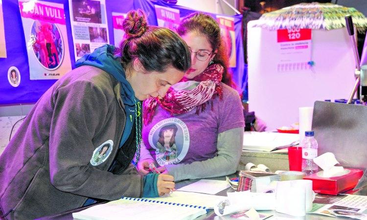 Voluntàries del Punt Lila a Sant Adrià