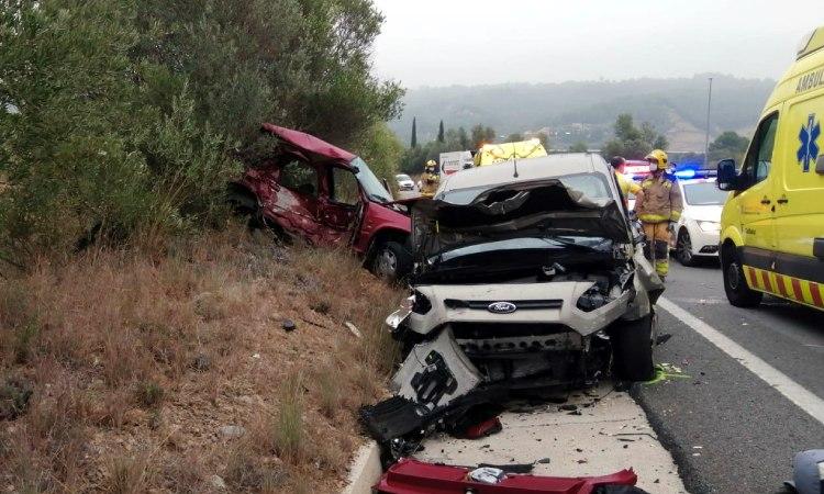 Mor una dona en un accident a la C-55 a l'altura d'Abrera