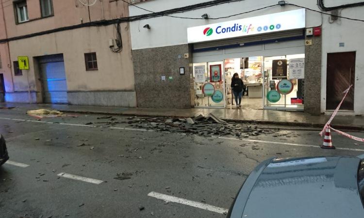 El vent provoca alguns incidents al Montserratí