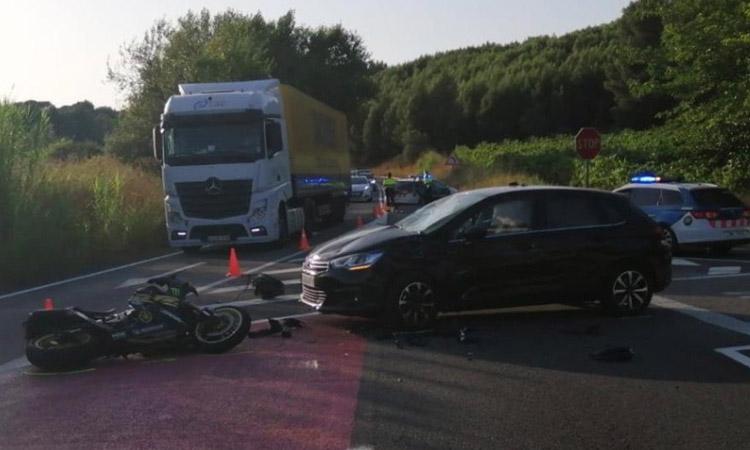 Mor un motorista en un accident a la B-224 a Sant Esteve