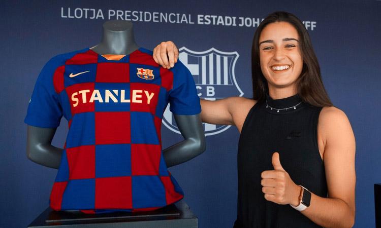 Jana Fernàndez puja al primer equip del Barça