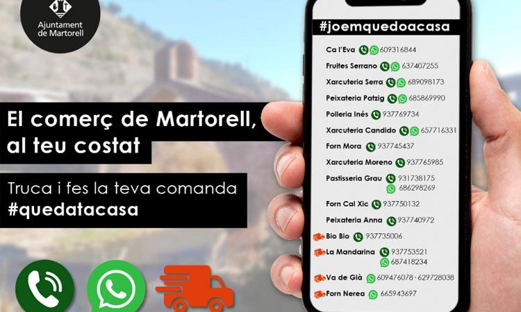 El comerç martorellenc activa comandes per telèfon i WhatsApp